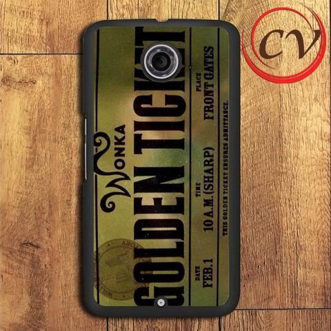 Ticket Willy Wonka Nexus 5,Nexus 6,Nexus 7 Case
