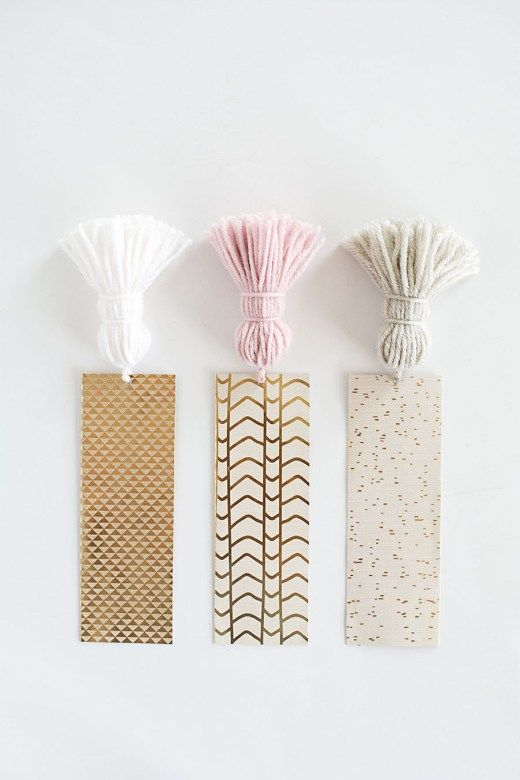 DIY Chunky Tassel Bookmarks- for any party favours