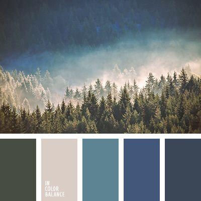 """""""пыльный"""" синий, болотный, глубокий синий, джинсовый, серо-голубой, серо-синий, серый, сине-голубой, синий, тёмно-зелёный, ультрамариновый синий, цвет ели, цвет тумана, цвет тумана в горах."""