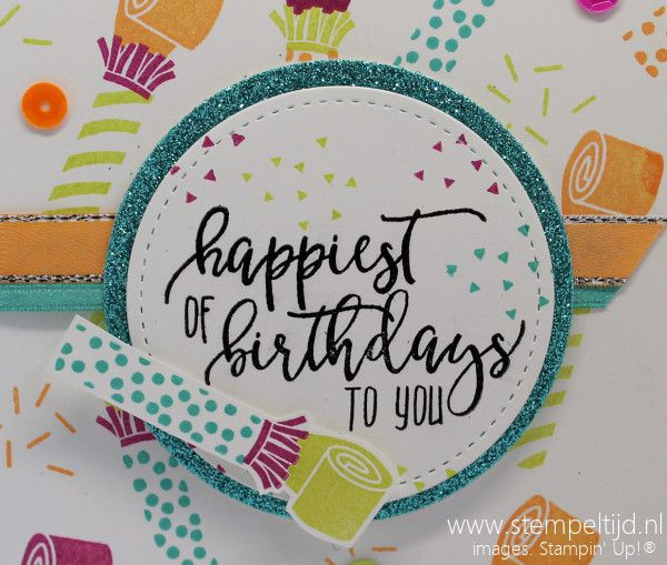 Let's Party! Picture Perfect Birthday - Picture Perfect DSP - Label-schuifkaart