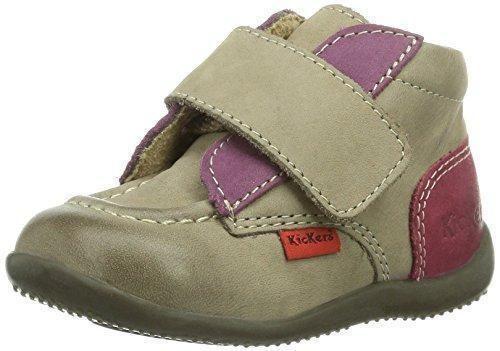 Oferta: 59.95€ Dto: -55%. Comprar Ofertas de Kickers Bono - Zapatos primeros pasos de otras pieles para niña Beige Beige (113 Beige Foncé Violet) 21 barato. ¡Mira las ofertas!