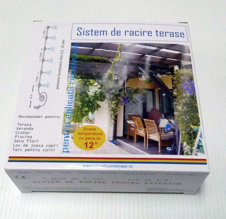 Kit racire exterior, kit climatizare terasa cu vapori de apa