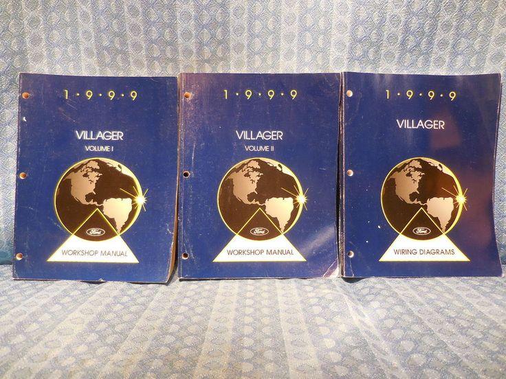 1999 Mercury Villager OEM Set of 3 Original Shop / Service / Workshop Manuals #Ford