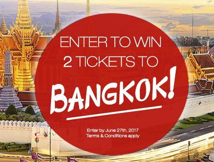GRAND PRIZE: Two round-trip Economy Class tickets from John F. Kennedy International Airport to Bangkok International Airport in Bangkok, Thailand worth $2,000.00. Taxes and fuel surcharges of the tickets are responsibility of the winner. Enter to win.