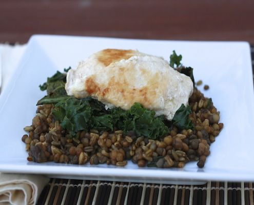 Chicken with Kale and Freekeh-Lentil Pilaf | Recipe