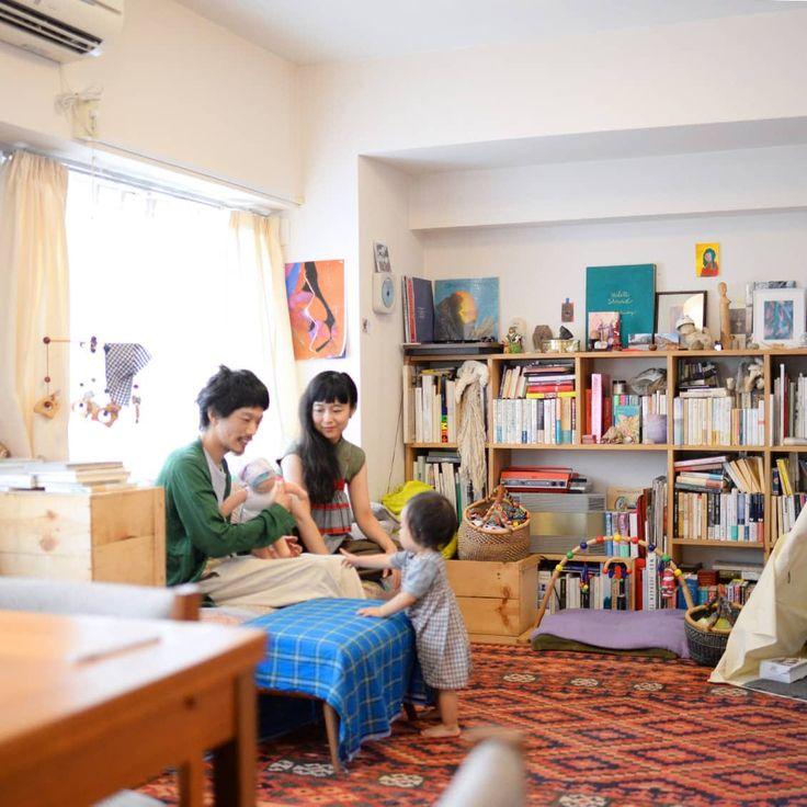 2dkに夫婦 子供ひとり 60平米の都内賃貸マンションに暮らすインテリア インテリア 賃貸 リビング インテリア