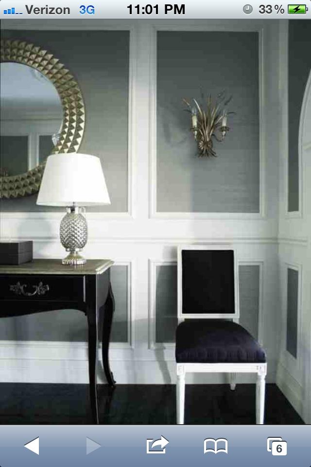 Pencil molding Decor, Wall trim molding, Interior design