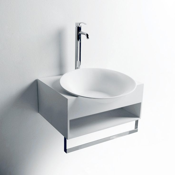 Fresh Wall Mount Bathroom Sink with towel Bar