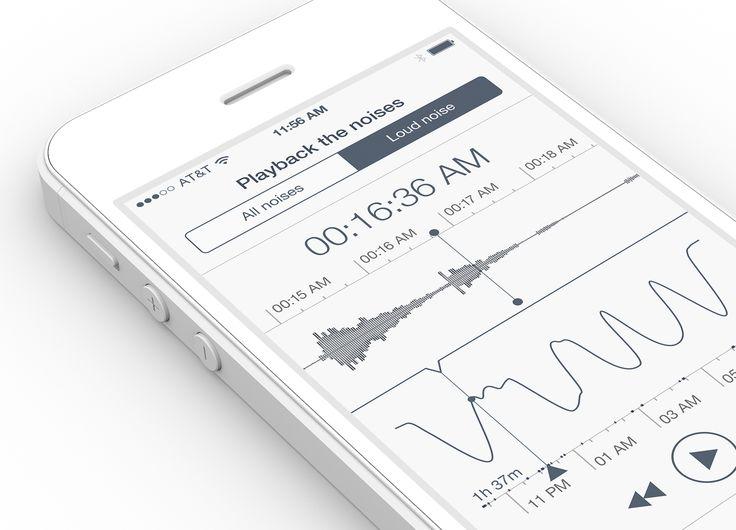 Sleep Tracker iPhone app design by RamotionFollow:Twitter|Facebook|Pinterest|Behance