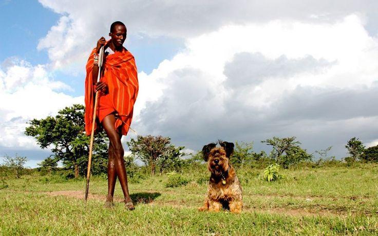 Oscar with his Massai friend