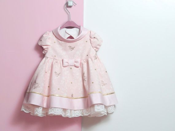 8419970a42a First birthday outfit Pink and gold dress and bloomers in