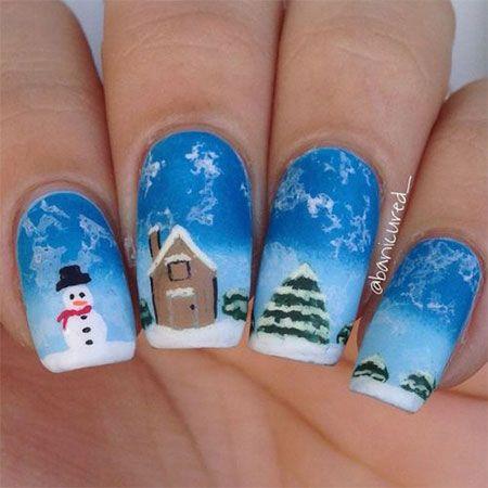 Easy Snowman Nail Art Designs - Best 25+ Snowman Nail Art Ideas On Pinterest Snowman Nails, Xmas