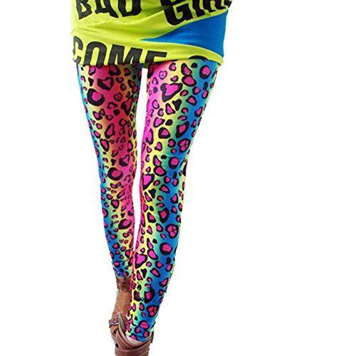 Womens Leggings Sexy Jeggings fluorescent rainbow gradient color leopard CW Leggings http://www.amazon.ca/dp/B00MCQTF1A/ref=cm_sw_r_pi_dp_xbGhub10XF6FW