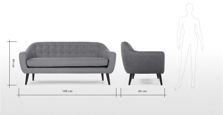 Ritchie 3 Seater Sofa in pearl grey, Danish inspired style in understand colour.