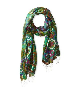 55% OFF Tolani Women's Nishat Scarf, Lime