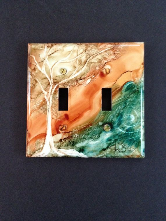 Switch Plate-Southwest Desert Canyon & Turquoise by ReneeKDesigns