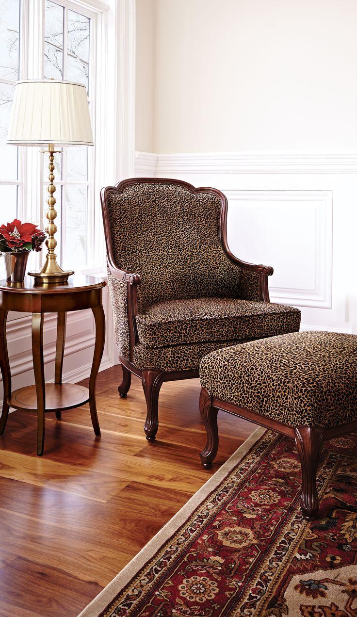Design james design hardwood wingback chair dining room chair - Adelaide Wingback Chair And Adelaide Ottoman