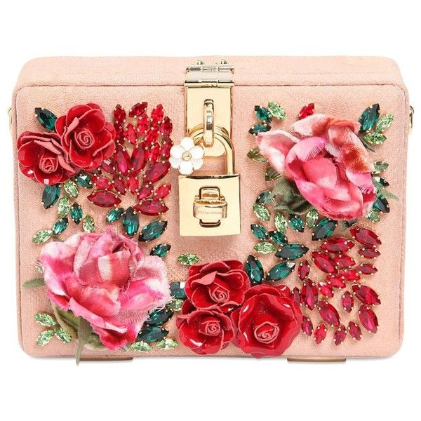 DOLCE & GABBANA Miss Dolce Hand-Embellished Jacquard Bag ($4,395) ❤ liked on Polyvore