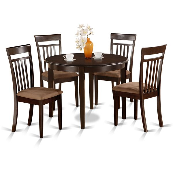 Small Round 5 Piece Kitchen Table And 4 Dining Chairs
