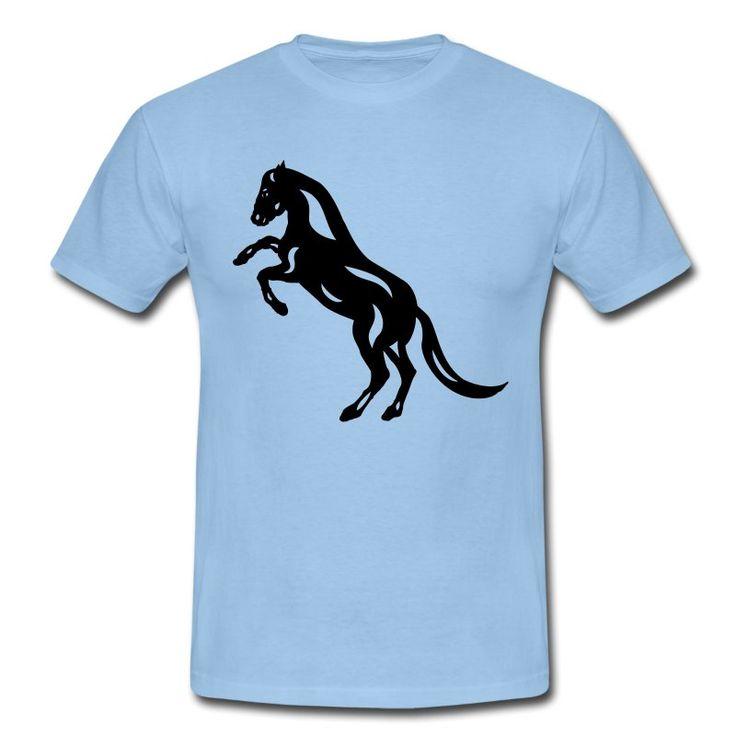 Herren T-Shirt | Abstraktes Pferd Emma von Manuel Süess | Mehr: https://shop.spreadshirt.de/PferdeDesigns/herren+t-shirt+abstraktes+pferd+emma-A109524469