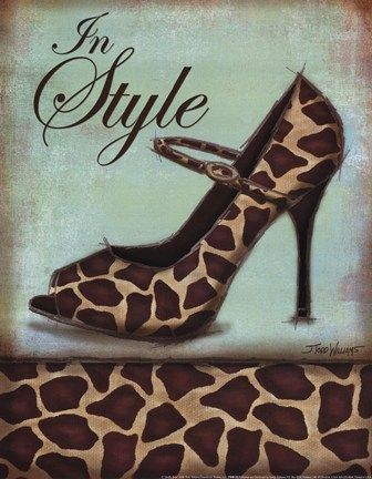 Fine Art Print – Cheetah Shoe par Gango éditions, 19 x 19