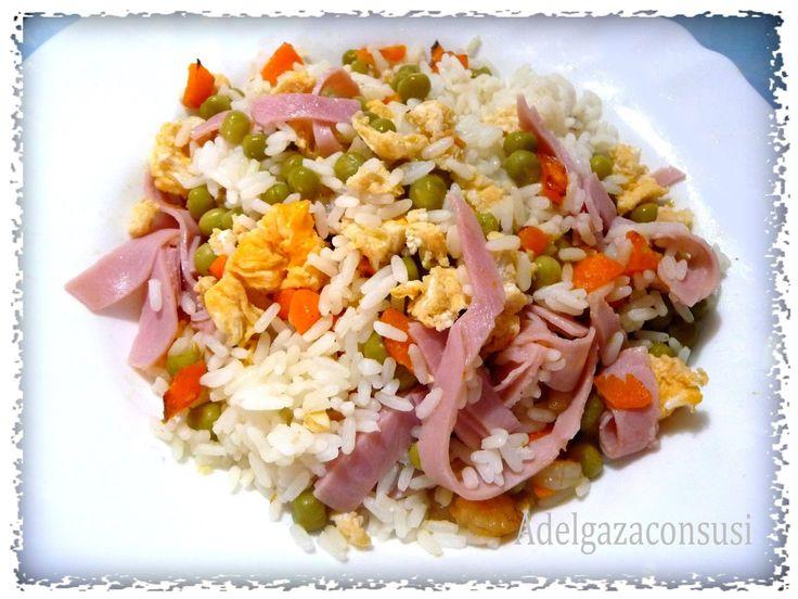 Recetas Light - Adelgazaconsusi: Arroz tres delicias ¡ plato único!
