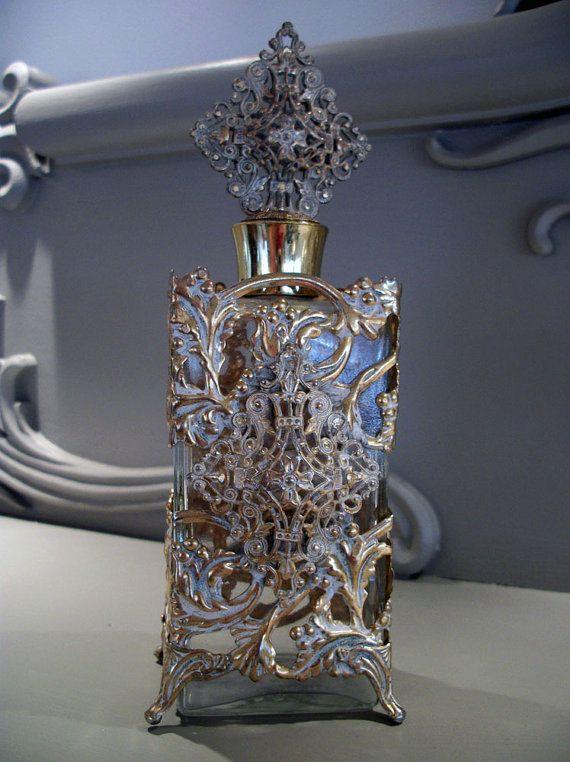 Vintage Gold Filigree Bottle