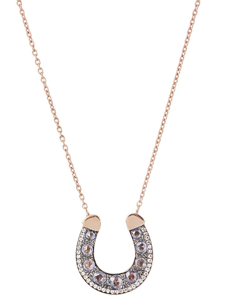 Diamond, sapphire & pink-gold Fortune necklace | Selim Mouzannar | MATCHESFASHION.COM