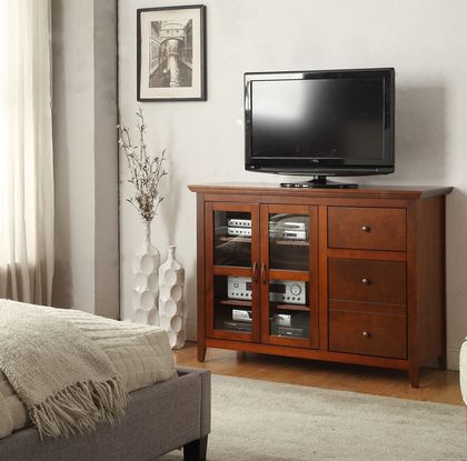 Convenience Concepts Sierra Highboy TV Stand in Cherry