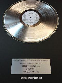 Discos de Oro y platino. Premios, galardones, awards, regalos empresariales.: Disco Platino Awards nº1