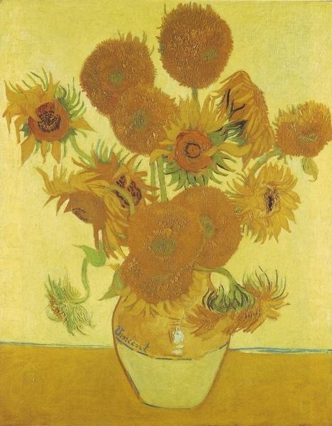 """Sunflowers"" (1888) by Vincent Willem van Gogh"