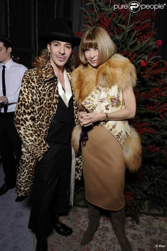 john galliano    John Galliano et Anna Wintour lors de l'inauguration de la boutique ...