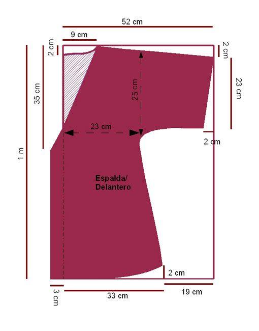 Salida De Baño Ninos Moldes:Plus Size Molde Para Camison
