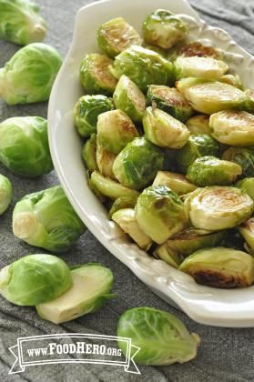Quick and Easy Roasted Brussels Sprouts - Oven roasted brussels - Food hero