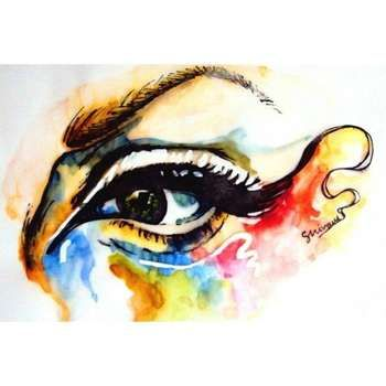Watercolors' my shop- www.etsy.com/shop/shivamsehgalartwork  #Creative #Art in #painting @Touchtalent http://bit.ly/Touchtalent-p #ink #eyes #grunge #art #arte #artwork #human #colorful #people #shivam #sehgal #artwork