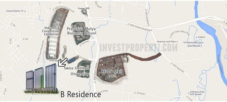 B-Residence Apartment Location Map