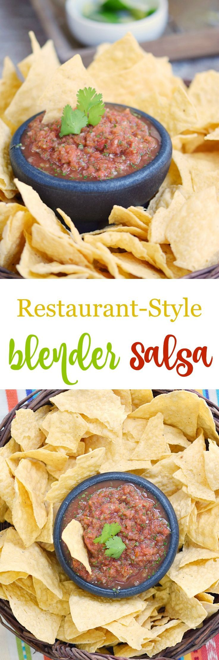 Now you can make your favorite Restaurant-Style Blender Salsa at home in minutes using simple ingredients, and it's Paleo and Whole 30 compliant!
