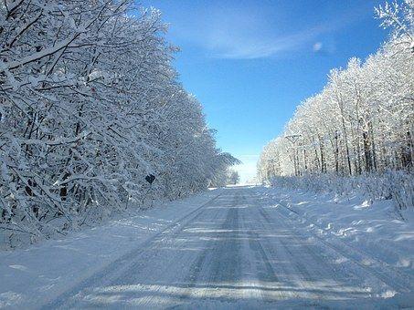Drogi, Śnieg, White, Zima, Sezon