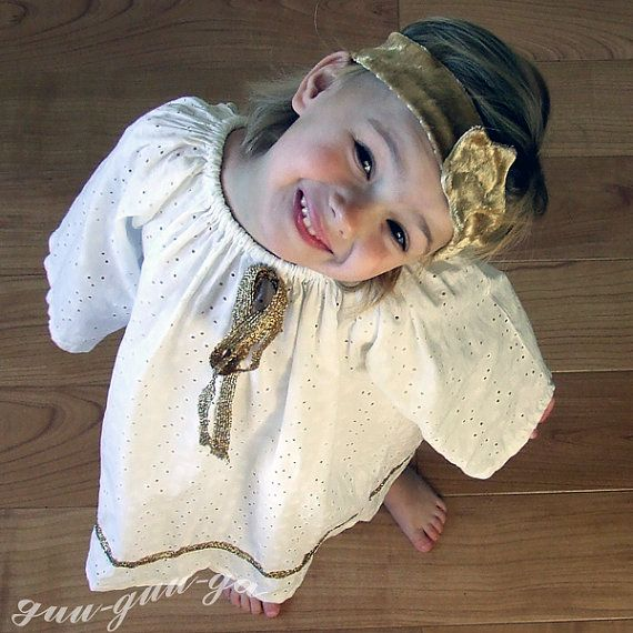 beautiful child's Angel costume perfect as nativity performance outfit and Christmas gift by GuuGuuGa on Etsy, $80.00