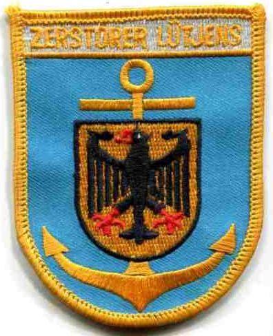 Bundesmarine:Verbandsabzeichen:Zerstörer Lütjens. 87 mm