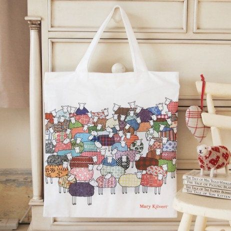 Colourful Sheep Bag by MaryKilvert on Etsy