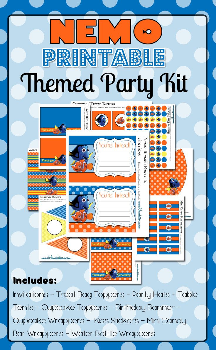 Finding Nemo Party Printables {FREE} | DIY PARTY | Pinterest ...