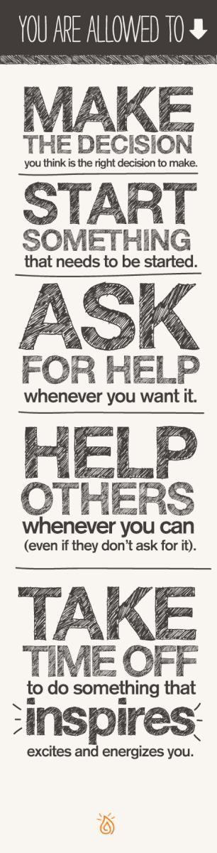 Make, ask, help, take... #Inspire #motivate #emmamildon