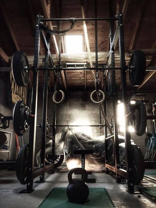 The Crossfitters dream garage gym - all the great gear - Go Rogue!