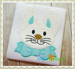 Галстук-Бабочка Кролик Аппликация - 4 Размеров! | Хозяйства | Машинная Вышивка Дизайны | SWAKembroidery.com