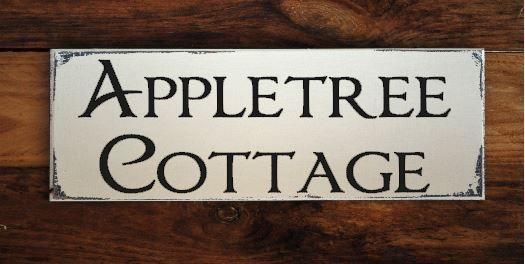 Personalised Wooden House Name Sign Plaque cottage country house name style