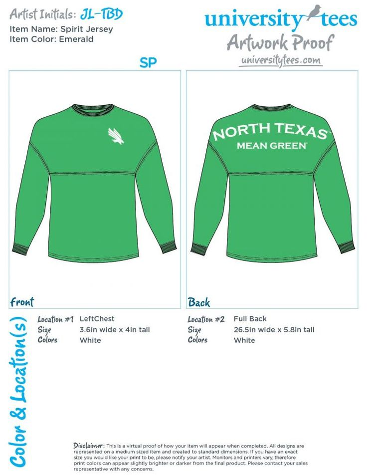 North Texas Spirit Jersey Long Sleeve Shirt Also Available In White 47