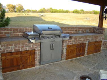 grill in bar backyard idea jen this would be a great idea for all those extra bricks josh has ha ha backyard remodel pinterest backyard and - Patio Grill Ideas