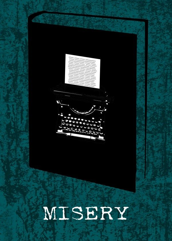 Misery Poster by Emily Pigou #book #cover #misery  #poster #displate #minimal #typewriter  #emilypigou #gifts #words  #poster #displate #minimal #emilypigou #gifts  #modern #geek #nerd #miseryposter #miserymovieposter #homedecor #homegifts #bedroom #bookcoverposter #bookposter #minimalposter #minimalmovieposter #minimaldecor #homegifts #bookworm #booklovers #bookloversgifts #bookgifts #buyposters