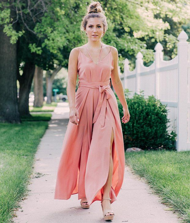 1e6ad89246f Very J Textured Wide Leg Jumpsuit - Women s Rompers Jumpsuits in Blush